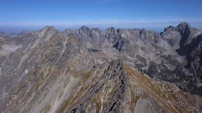 Flight Over High Tatras Mountains