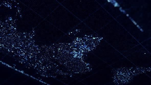 Global technology world map