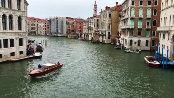 Venice  Fabulous City on the Water with Gondolas and Old Architecture Buildings