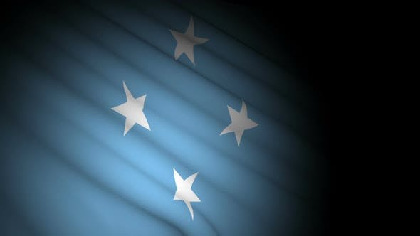 Thumbnail for Micronesia Flag Blowing in Wind