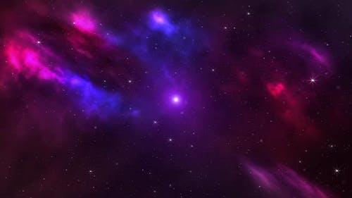 Glowing Purple Nebula Loop