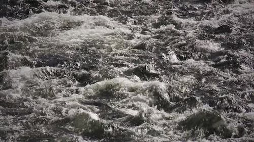 Fast flowing Glacial Meltwater River.