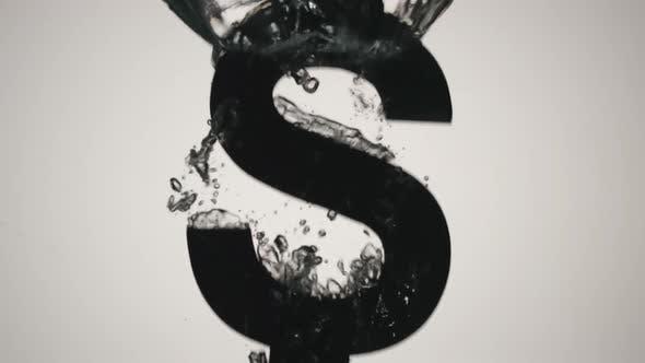 Thumbnail for US Dollar symbol falls into water