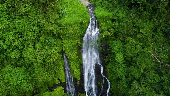 Thumbnail for Beautiful Tropical Waterfall in Green Rainforest