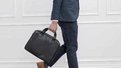 Smart Businessman Walking