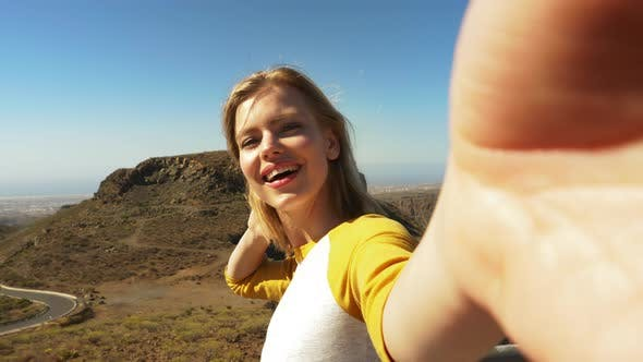 Thumbnail for Blonde Model Road and Valleys in the Background