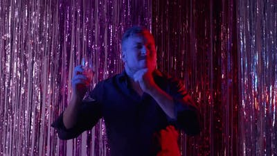 Night Club Party Drunk Man Festive Celebration