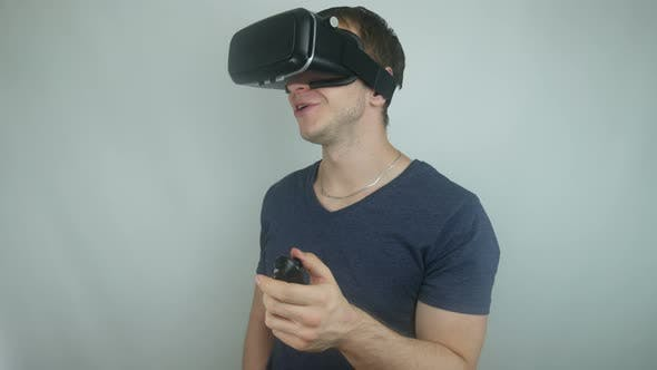 Thumbnail for Man Uses The Technology Of Virtual Reality