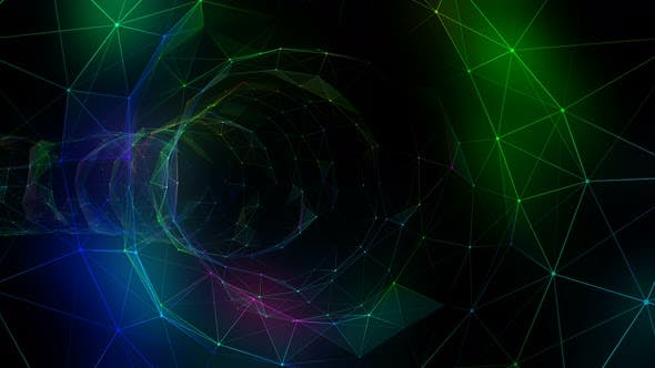 Thumbnail for Colorful Plexus Background Seamless Loop 7