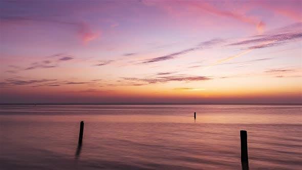 Isigny Sur Mer France Timelapse, The Risingtideinthebaydes Veysat Sunset