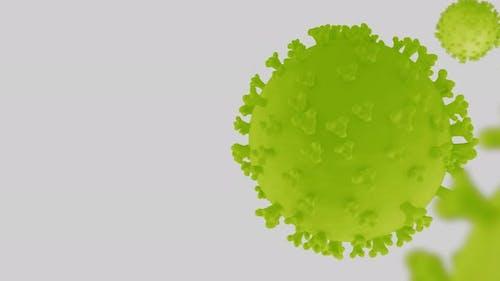 Coronavirus Green and White Background - Ver3