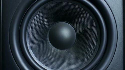 of Round Audio Speaker Pulsating