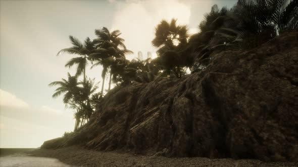 Soft Twilight of the Amazing Tropical Marine Beach