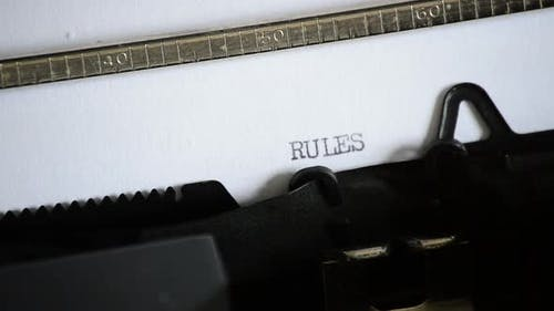 Typing the Word RULES