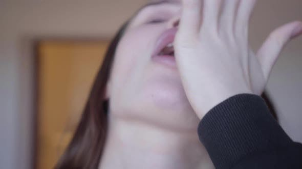 Thumbnail for Bad Looking Woman with Many Pills in Her Mouth
