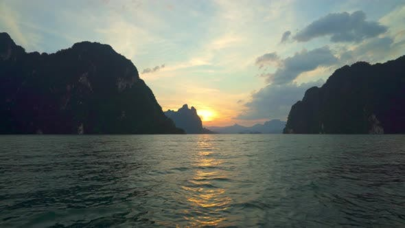 Thumbnail for Boat Ride Watching Sunset in Cheow Lan