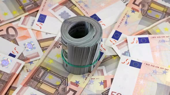 Thumbnail for Rotating Hundred Dollar And Euro Banknotes 16
