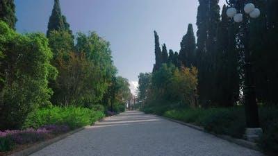 Parkway in Bahai garden Acre, Israel