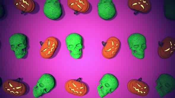 Thumbnail for Flying In Skulls On Floor Stone Retro 90s HD