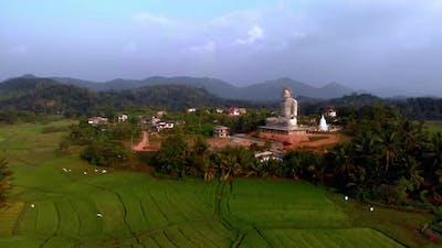 Buddhist Temple with Buddha Statue