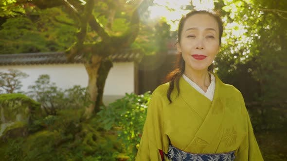 Elegant Japanese woman in Kyoto Japan