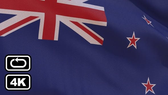 Thumbnail for New Zealand Flag 4K Seamless Loop