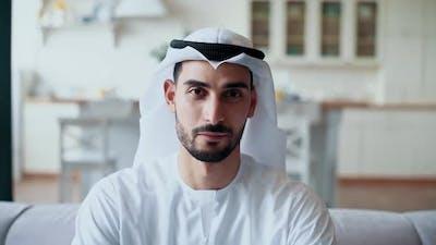 Arabian man smiling