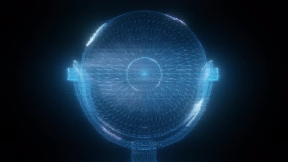 Thumbnail for Web Camera Hologram Close Up 4k