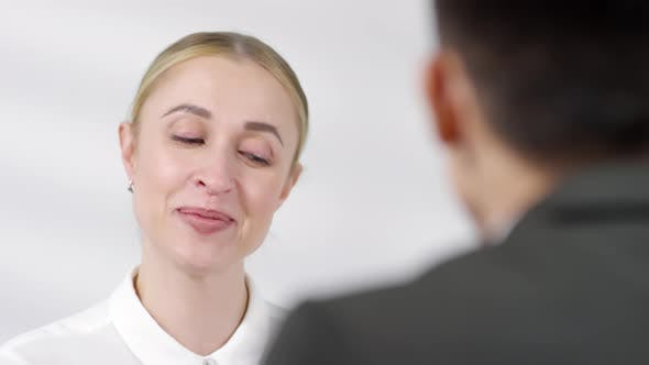 Thumbnail for Cheerful Businesswoman Talking to Job Candidate