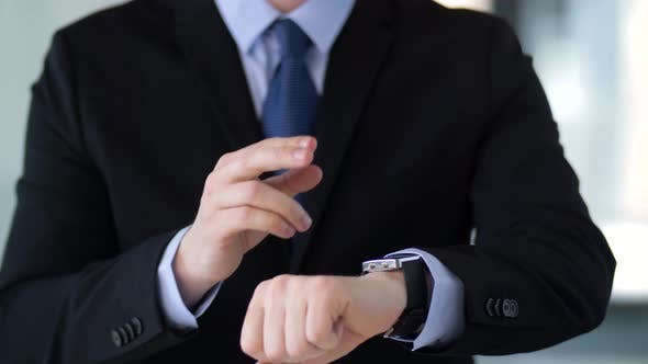 Thumbnail for Businessman Working with Smart Watch
