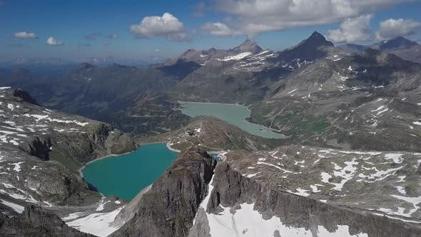 Thumbnail for Aerial View of Weissee and Tauernmoosee Lakes, Austria