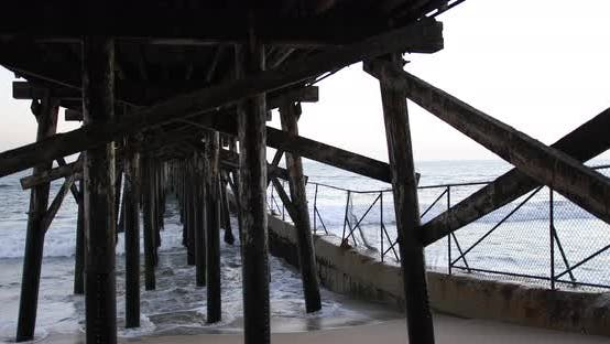 Thumbnail for Background plate of Wooden pier with a blown out sky for green screen