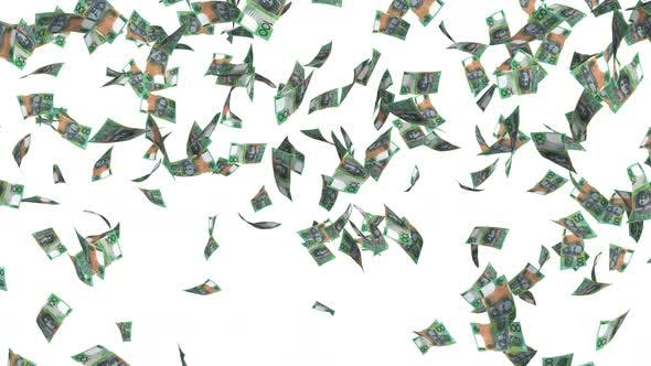Thumbnail for Australian Dollars Money Rain
