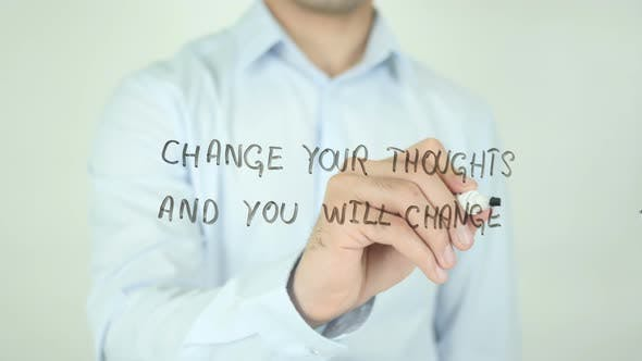 Thumbnail for Change Your Thoughts and You Will Change Your World, Writing On Screen