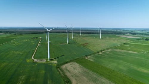 Aerial View of Windfarm
