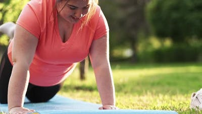 Overweight Routine Calorie Burn Overweight Woman