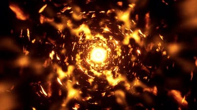 Sun Flare Tunnel 4K 01