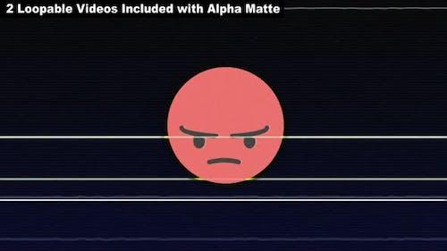 Glitch ANGRY Emoji Package