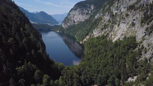 Aerial of Toplitzsee Lake, Austria