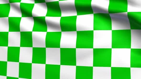 Thumbnail for Auto Racing Green White Checkered Flag