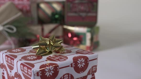 Thumbnail for Decorated Christmas presents