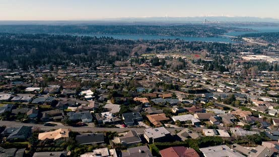 Thumbnail for Aerial View Of Bellevue Mercer Island And Seattle