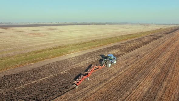 Thumbnail for Agriculture - Flying Over a Tractor 5
