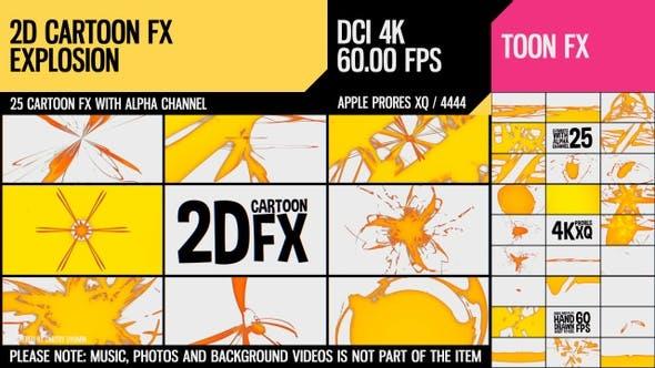 2D Cartoon FX (Explosion Satz 20)