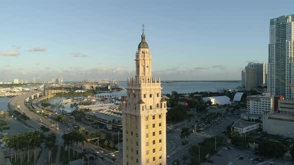 Thumbnail for Aerial view of Miami with the Freedom Tower
