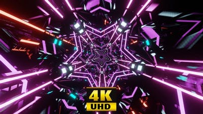 Lilac Disco Stars 4K