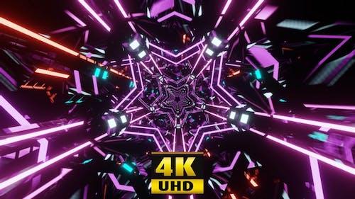 Lila Disco-Sterne 4K