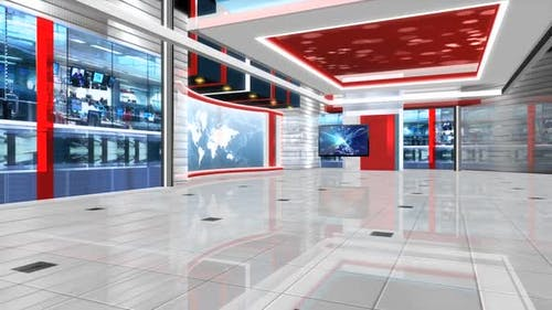 Virtual News Studio Set Background 320