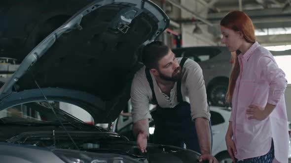 Thumbnail for Maintenance Worker Checking Car