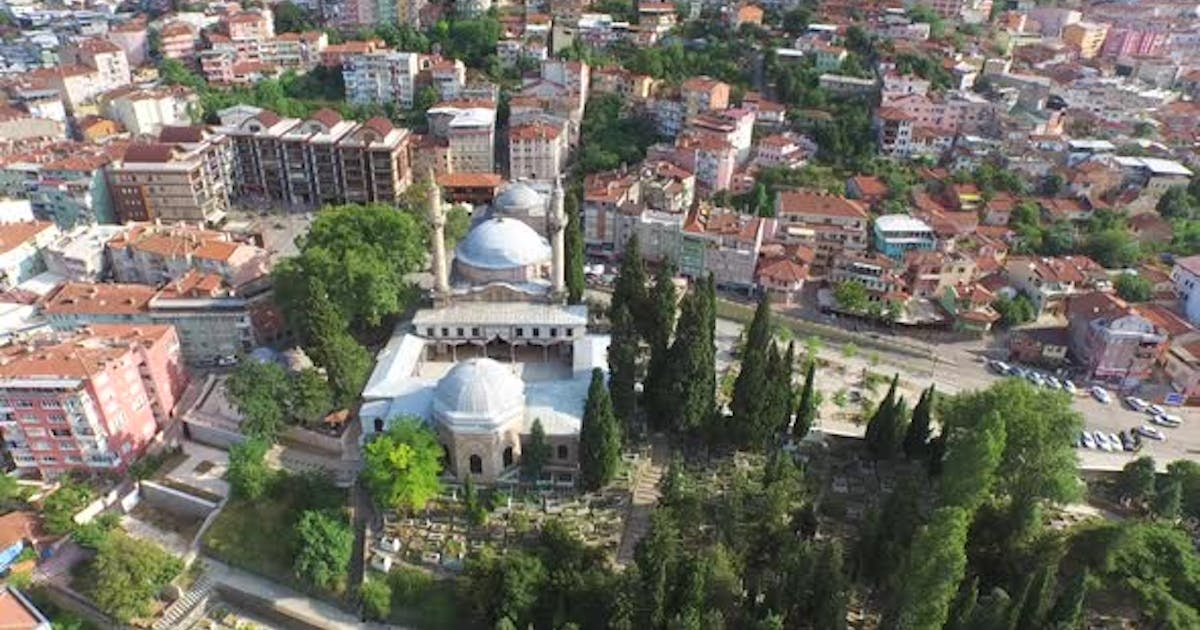 A Mosque in a Traditional Style in the City of Muslim